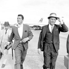 Dean Martin   Frank Sinatra at London Airport - anything with these  gentlemen in it, I will watch! a0a9959a4222