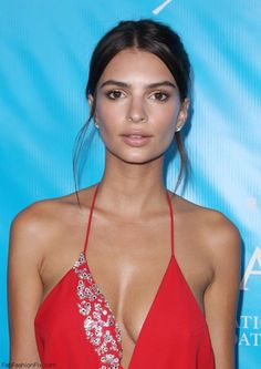 576e6e09279 Emily Ratajkowski shows off her skin in Alexandrea Vauthier red dress at  the special event for