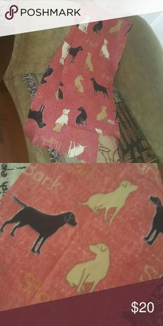 Stay Bark Scarf! NWT extra wide fleece scarf by im.butterflycreations Accessories Scarves & Wraps