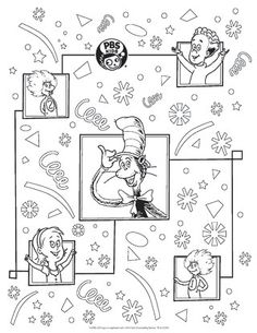 pbs kids holiday coloring pages printables super reader santa and kids colouring