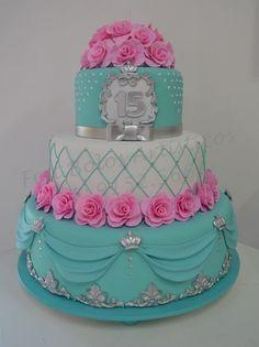 89-11 Beautiful Birthday Cakes, Gorgeous Cakes, Pretty Cakes, Amazing Cakes, Fondant Cakes, Cupcake Cakes, 15th Birthday Cakes, Baby Girl Cakes, Cake Baby