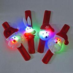 Christmas Favor LED Flashing Slap Bracelets (pack of 12)