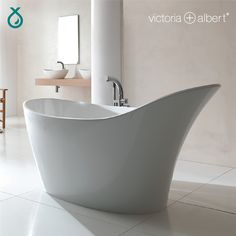 Bubbly brought to you by Cape Plumbing & Bathrooms. The Amalfi bath by Victoria + Albert Baths offers softly contoured sides descending gracefully to the floor. The bath has extended backrest providing for full head support for those long luxurious soaks. Victoria And Albert Baths, Duravit, Amalfi, Plumbing, Bliss, Cape, Bathrooms, Bubbles, Bathtub
