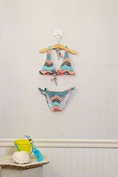 the Ultimate in Kids' Fashion! Size 6 Girls Bikini Swim Suit by Shoshanna Baby Girl. New with tags! $42.99 | Moxie Jean: Upscale Resale