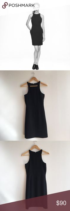 J. CREW Cutaway Crepe Dress Black J. CREW Cutaway Crepe Dress Black - brand new with tags!  Instant polish for those running-late Monday mornings and no-clue-what-to-wear Friday nights.  Poly. On-seam pockets. Lined. Dry clean. J. Crew Dresses