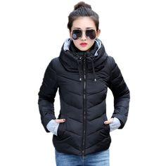 93cb7006a5d63 2016 Veste D hiver Femmes Parka Épais Vêtements D hiver Plus La Taille Vers