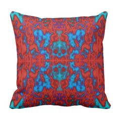 Psychedelic kaleidoscope pattern throw cushions
