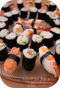 """Le riz collant pour sushis/makis et nouvelle catégorie ! – Sticky rice for sushi / makis and new category!"""" Quinoa rice topped with gChocolate Sushi – startsSushi with fish only– no Sushi Case, My Sushi, Sushi Recipes, Asian Recipes, Healthy Recipes, Good Food, Yummy Food, Food Goals, Japanese Food"""