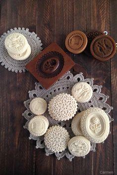Brownie Cookies, Cupcake Cookies, Molded Cookie Recipe, Springerle Cookies, Butter Molds, Cookie Company, Mooncake, Candy Making, Soap Making