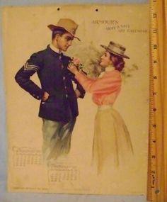 Vintage 1899 Armour's Army & Navy Art Calendar