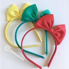 Hair Ribbons, Diy Hair Bows, Diy Bow, Diy Ribbon, Ribbon Crafts, Ribbon Bows, Baby Girl Accessories, Diy Hair Accessories, Felt Headband