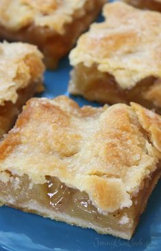 Apple Pie Bars with Easy Oil Crust recipe from Jenny Jones (Jenny Can Cook)