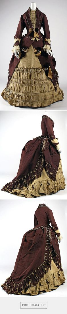 Visiting dress by Emile Pingat ca. 1872 French | The Metropolitan Museum of Art