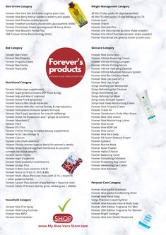 Not everyone knows that Forever Living's product range is much more extensive than their popular aloe vera drinks, aloe vera diet, Clean 9 Diet and the other things many of us are familiar with. So it seems like a good idea to give you this info graphic with seven different categories, listing all the different products in each one. Everything you see listed is just a click away, using the embedded link. Stay safe during these challenging days! Aloe Vera Juice Drink, Aloe Drink, Aloe Vera Gel Forever, Forever Living Aloe Vera, Forever Aloe Berry Nectar, Forever Freedom, Forever Living Business, Healthy Protein Shakes