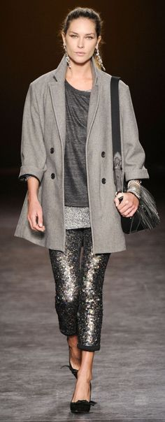We love these Isabel Marant metallic leggings. @Wish Want Wear