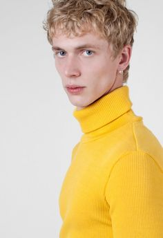 Raf Simons Rib Jersey Rollneck Yellow – Voo Store