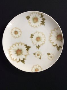 "Mikasa ""Boyne"" Pattern #5742 Dinner & Salad Plate Set - 10 1/4"" and 7 1/4"" - White Daisys by BarbsBaublesBoutique on Etsy"