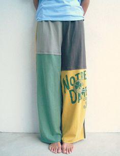 Notre Dame T Shirt Pants / M  L / Unisex / Men / Upcycled by ohzie