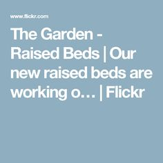 The Garden - Raised Beds | Our new raised beds are working o… | Flickr