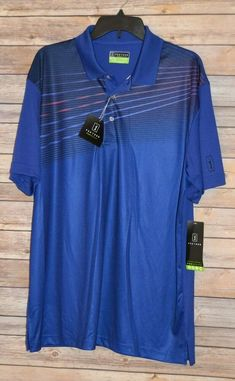 Collection Here Pga Tour Motionflux 360 Shirt Mens M Blue Long Sleeve Pullover Golf Customers First Activewear