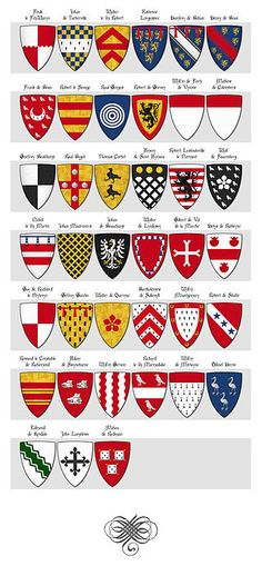 Category:Glover's Roll of Arms - Wikimedia Commons Medieval World, Medieval Art, Medieval Fantasy, Family Logo, Family Crest, Royal Family Trees, Medieval Shields, Family Shield, Shield Design