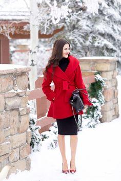 Dress: Nordstrom | Coat: Tina Turk (love this red coat too) | Heels: Jessica Simpson | Bag:...