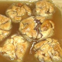 Old Fashioned Apple Dumplings Like Granny Used To Make. We have these Christmas morning with scrambled eggs and bacon.
