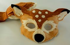 Meadow the  White Tail Deer Pretend Play Mask par HuntingFaeries