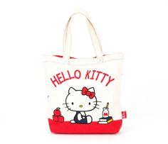 Hello Kitty Canvas Tote Bag: Red Ribbon