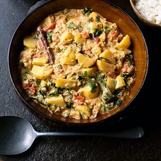 Keralan potato curry. For the full recipe, click the picture or visit RedOnline.co.uk
