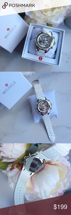 Michele zebra Tahitian jelly bean watch Such a fun watch to rock! In great condition with signs of wear on face and bottom of watch as shown in pictures. Band is in great condition as well with no signs of stains. Will come in box and watch battery just got replaced last week! Michele Accessories Watches