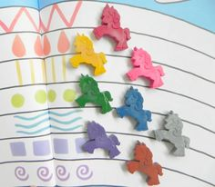 Unicorn and My Little Pony fans everywhere will love these vibrantly Unicorn shaped novelty crayons. The perfect Unicorn Gift and addition to any Unicorn Party or Fairytale Princess party. These make a magical birthday gift and unique, colourful wedding party favours for children of all ages. You will receive 8 colourful Unicorn Crayons, enough to doodle a rainbow! Each Unicorn shaped crayon measures approximately 4.5cm x 3.5cm at its widest point, making them a great size for little hands…
