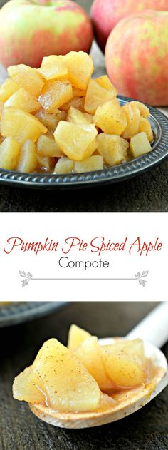 Pumpkin Pie Spiced Apple Compote is best served warm over ice cream, oatmeal, and/or yogurt. It's an easy mixture that you can reach for so often.