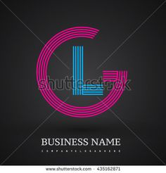 Letter GL linked logo design circle G shape. Elegant red and blue colored letter symbol. Vector logo design template elements for company identity. - stock vector
