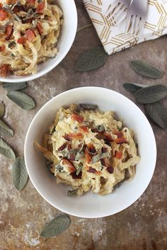 "Sweet Potato Noodles with Sage ""Cream"" Sauce // Beth Manos Brickey"