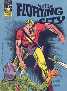 Indrajal Gordon: The Floating City Flash Gordon Comic, Indrajal Comics, Korn, Comic Covers, Childhood Memories, Amazon, City, Amazons, Riding Habit