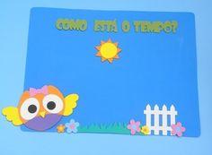 Painel Como está o tempo para educação infantil Coruja www.petilola.com.br