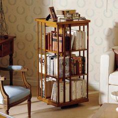biblioth que tournante en bois massif grand mod le avec 2 tag res biblioth ques tournantes. Black Bedroom Furniture Sets. Home Design Ideas
