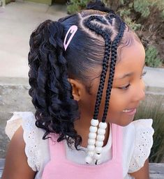 Little Girls Natural Hairstyles, Kids Curly Hairstyles, Baby Girl Hairstyles, Hairstyles For Black Kids, African Hairstyles For Kids, African American Girl Hairstyles, Little Girl Braid Hairstyles, Wedding Hairstyles, Office Hairstyles