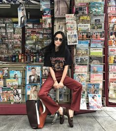 street style, editorial, campaign, printed, graphic, tee, t-shirt, trend, oracle♡... - Summer Street Style Fashion Looks 2017