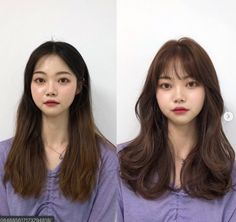 These are the hottest Korean bangs in 2019 TOP BEAUTY LIFESTYLES : See the before and after with Korean long side bangs? They are absolutely life saver to round faces koreanhairstyle koreanwomen koreanfashion hairstyleforroundfaces hairstylewithbangs cut Easy Hairstyles For Medium Hair, Hairstyles For Round Faces, Medium Hair Cuts, Hairstyles With Bangs, Medium Hair Styles, Korean Hairstyle Medium Round Faces, Asian Hairstyles, Girl Hairstyles, Round Face Bangs