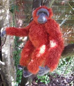 my pet orangutan by madmonkeyknits1