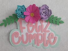 Cake Toppers, Cricut Tutorials, Ideas Para Fiestas, 2nd Birthday, Gift Tags, Origami, Diy And Crafts, Craft Projects, Christmas Gifts