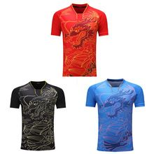 Women / Men Table Tennis Clothes Sportswear Quick Dry Breathable Badminton Tennis Shirt Clothes Team Game Short Sleeve T Shirts(China)