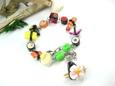 Sushi Bracelet by beadpassion on Etsy, $25.00    She makes the BEST stuff. I love her work!!!
