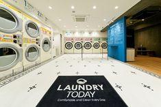 ランドリートゥデイ店内写真_DSC6985 Coin Laundromat, Laundromat Business, Laundry Business, Laundry Shop, Coin Laundry, Laundry Storage, Self Service Laundry, Laundry Design, Serviced Apartments