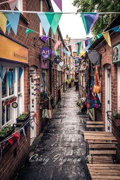 The Gauntlet in Glastonbury. Narrow row of shops. Made for an interesting shot. Glastonbury England, Glastonbury Somerset, Glastonbury Tor, England And Scotland, Somerset England, Cool Places To Visit, Great Places, Prince, English Countryside