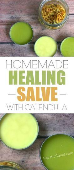 Homemade Healing Salve With Calendula - Holistic Squid