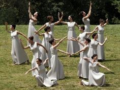 Actresses, playing the role of priestesses, take part in the torch lighting ceremony of the London 2012 Olympic Games at the site of ancient Olympia in Greece, May [Photo/Agencies] Greece Costume, Greek Dancing, Ritual Dance, Olympic Flame, Creepy Houses, Greek Culture, Pictures Of The Week, Ancient Greece, Motogp