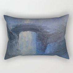 Under the bridge Rectangular Pillow by taylorbernart Oversized Throw Pillows, Down Pillows, Poplin Fabric, Pillow Inserts, Sleep, Comfy, Canvas, Bed, Artwork